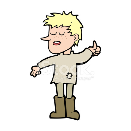 cartoon poor boy with positive attitude stock vector freeimages com rh freeimages com Drink Clip Art Drink Clip Art