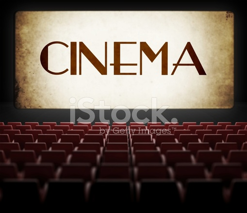 Vintage Movie Screen In Old Retro Cinema Stock Photos Freeimages Com