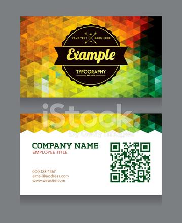 Visitenkarte Vorlage Mit Qr Code Stock Vector Freeimages Com