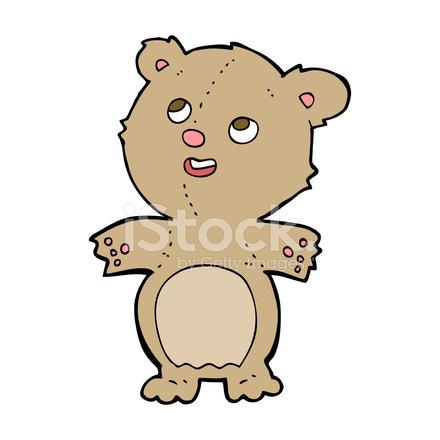 Dessin anim heureux petit ours en peluche stock vector - Petit ours dessin anime ...