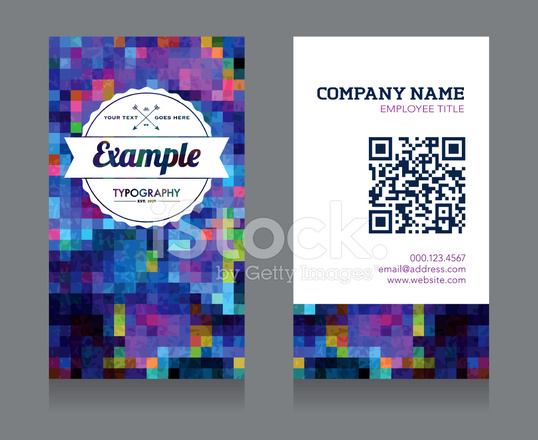 Business card template with qr code stock vector freeimages business card template with qr code cheaphphosting Images