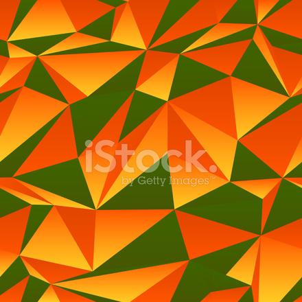 Sfondo Triangolo Verde E Arancione Stock Vector Freeimagescom