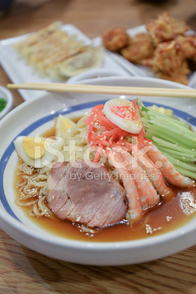 Hiyashi Chuka , Japanese Cold Noodles Salad Stock Photos ...
