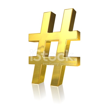 Gouden Hash Tag Symbool Stockfotos Freeimages