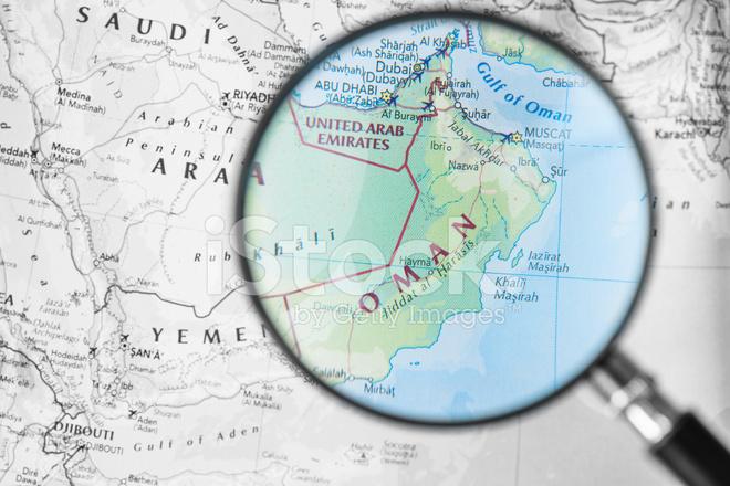 Karte Oman.Karte Von Oman Stockfotos Freeimages Com