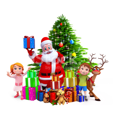 kids with santa claus - Santa Claus With Kids
