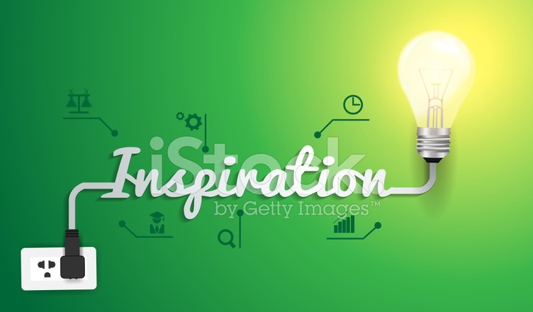 Vector inspiration concept with light bulb idea modern design te