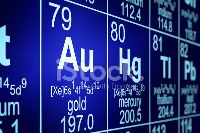 Periodic Table Gold Stock Photos Freeimages