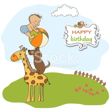 rolig födelsedagshälsning Rolig Tecknad Födelsedag Gratulationskort Stock Vector  rolig födelsedagshälsning