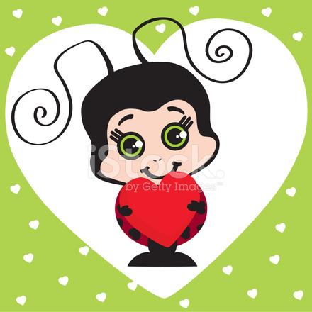 Gallery For gt Cute Cartoon Girl Ladybug