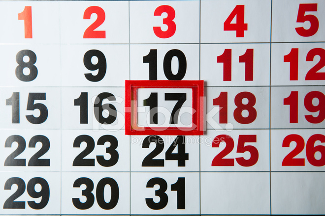 Calendario Con Numero Giorni.Calendario Calendario Murale Con Il Numero Di Giorni