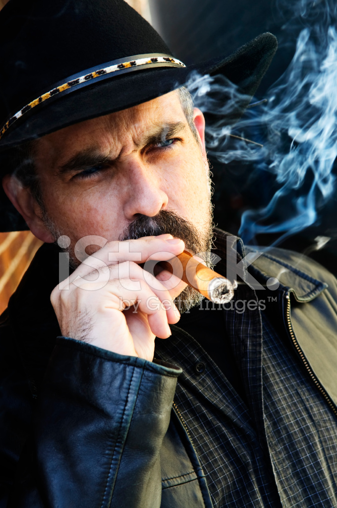 Bearded Man Smoking Cigar Stock Photos Freeimages Com
