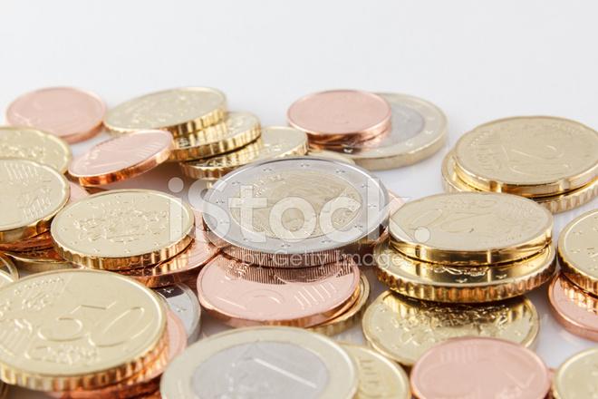 ラトビアのユーロ硬貨 ストック...