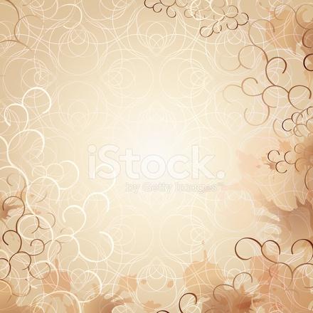 Magnifique Fond DE Lettre OU Invitation Douce ET Romantique Stock Vector &QT_06