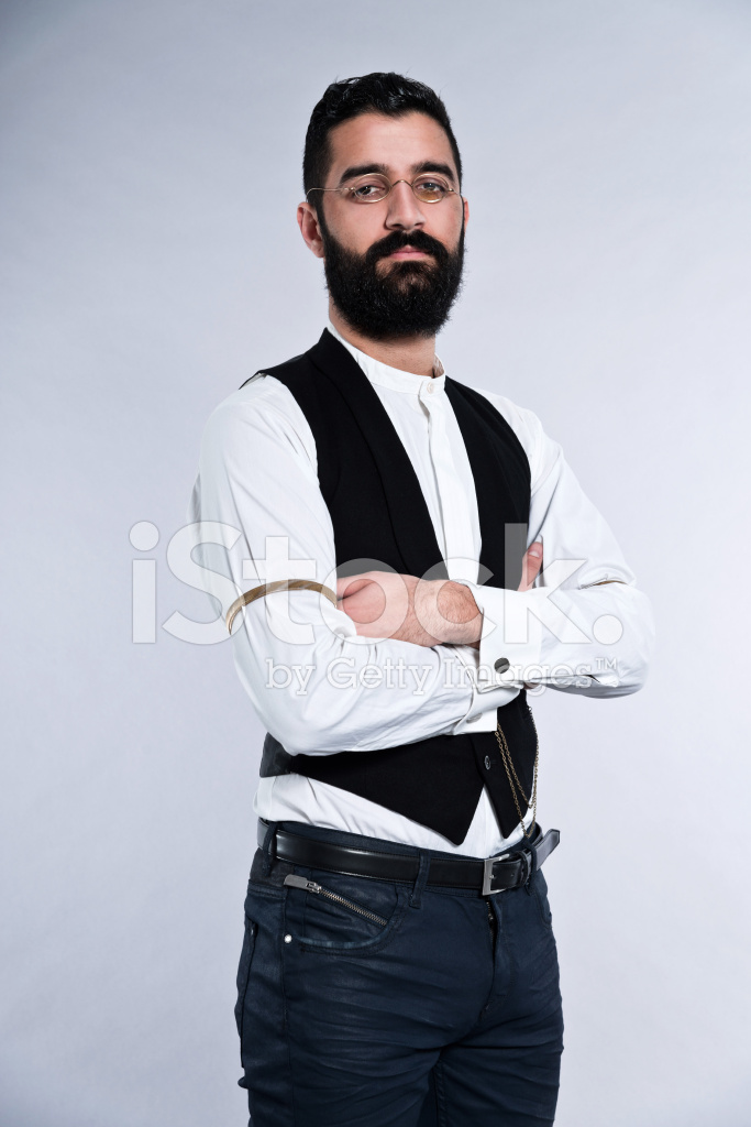 Premium Stock Photo of Uomo Di Moda Retrò Hipster 1900 Con Barba E Capelli 1c1d1e70c09f