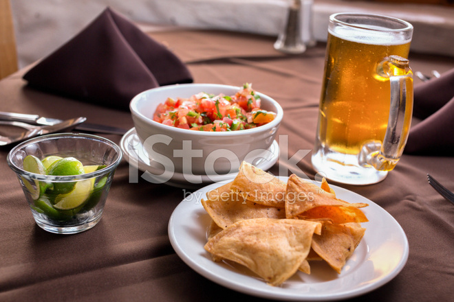 Chips Salsa And Beer Stock Photos Freeimages Com