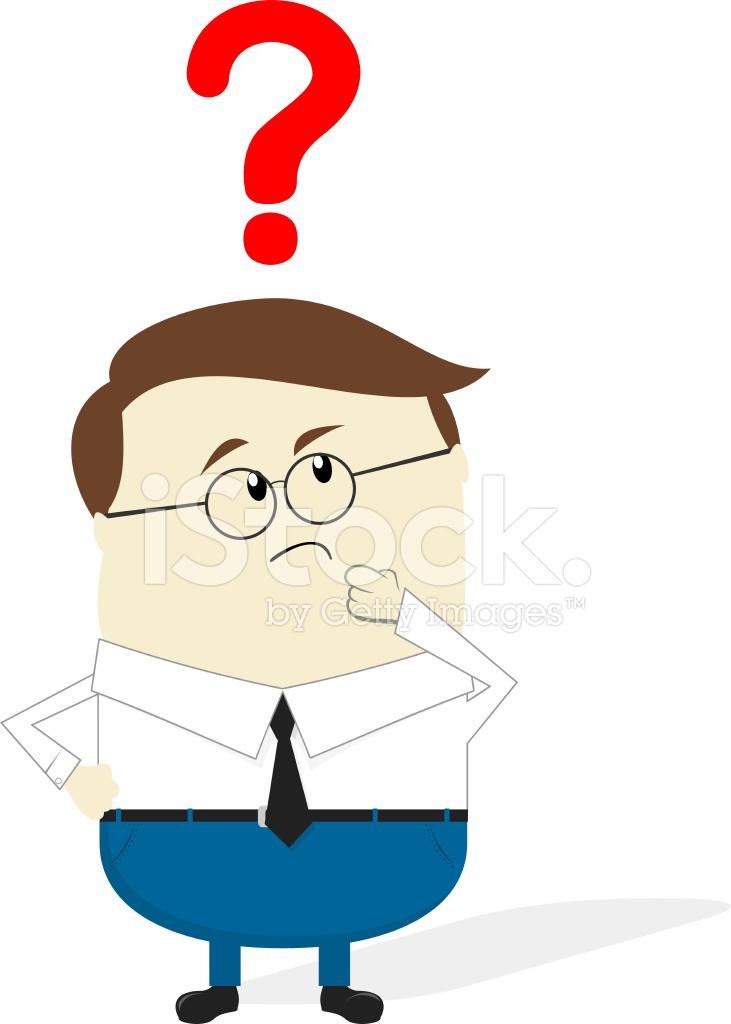 Businessman Doubt Cartoon Stock Vector FreeImagescom
