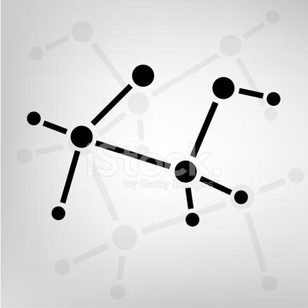 2d Ethyl Alcohol Molecule Structure Stock Vector Freeimages