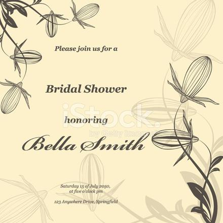 Hochzeit Oder Einladung Abstrakte Vektor Blumen Muster Backg Stock
