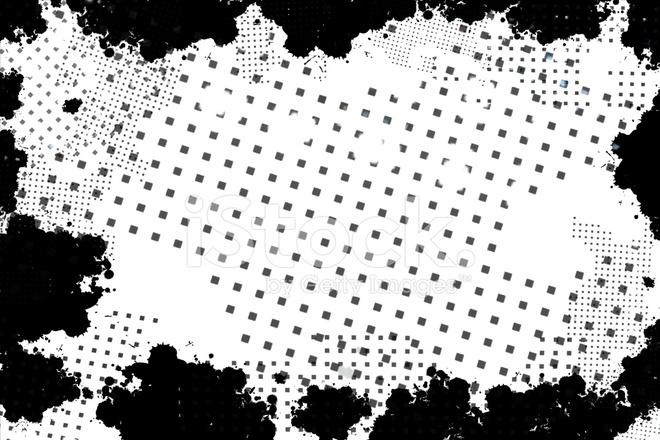 black grunge border frame on white background