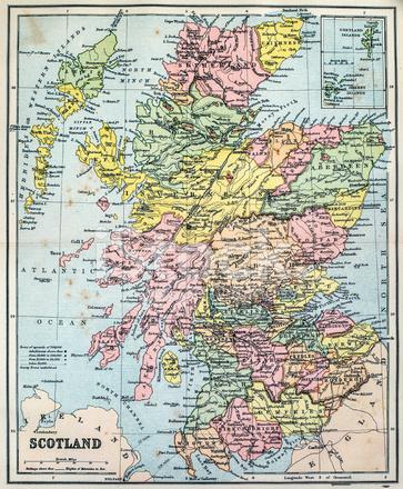 Antika Karta Over Skottland Stockfoton Freeimages Com