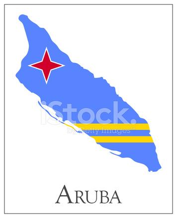 Aruba Flagge Karte Stock Vector - FreeImages.com
