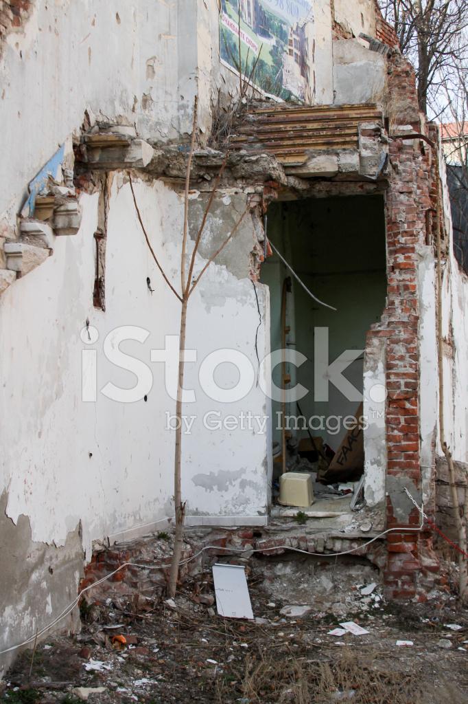 Crumbling Brick Porch Stock Photos