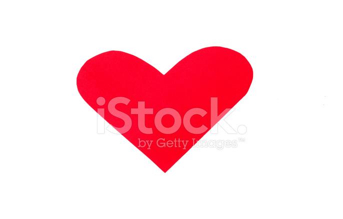 Eine Herzform Aus Roten Papier Zum Valentinstag Stockfotos