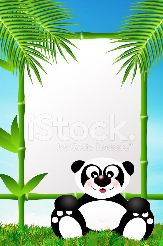 Panda UND Bambus Rahmen Stock Vector - FreeImages.com