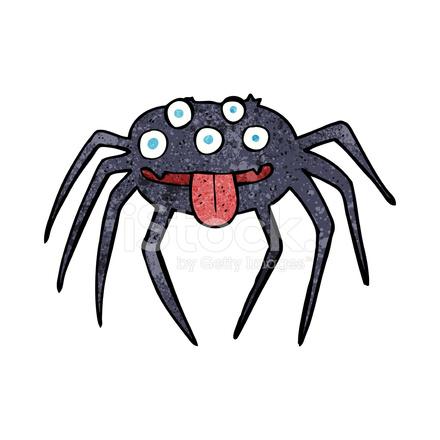 Ragno Halloween Lordo Cartone Animato Stock Vector Freeimagescom
