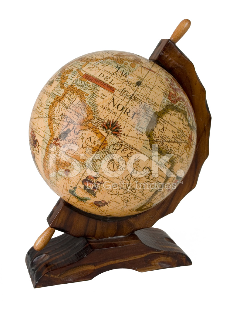 antique earth globe stock photos. Black Bedroom Furniture Sets. Home Design Ideas