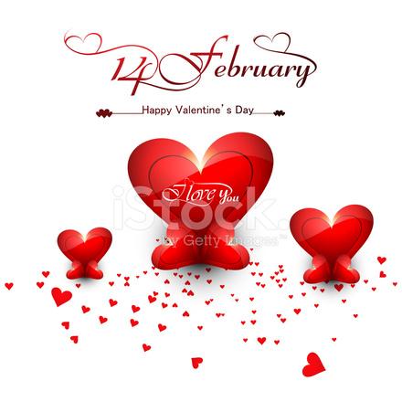 Schöne Herzen Für Happy Valentinstag Stilvolle Text Design V Stock ...
