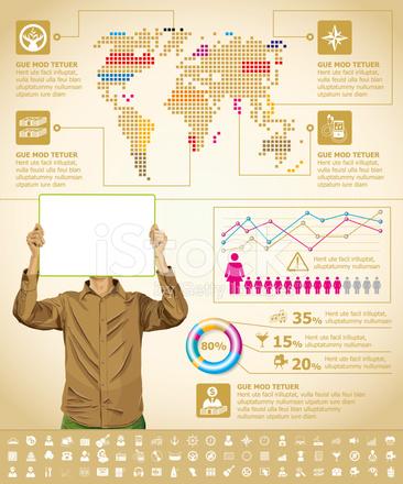 92139870fdb Infográficos Com Mapa Da Terra Stock Vector - FreeImages.com