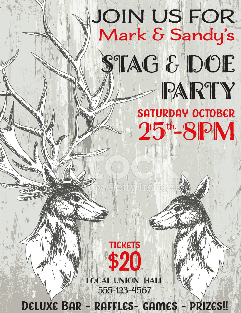 Stag and doe party invitation template stock vector freeimages premium stock photo of stag and doe party invitation template monicamarmolfo Choice Image