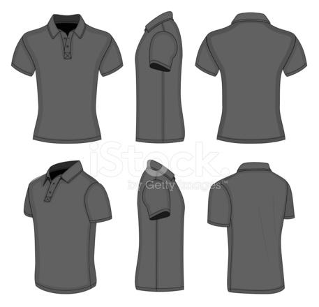 Herren Schwarz Kurzarm Poloshirt Stock Vector - FreeImages.com