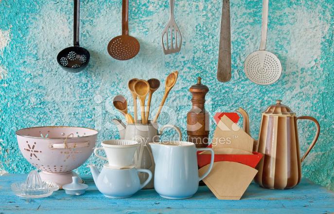 collection de fond d 39 ustensiles de cuisine vintage bleu photos. Black Bedroom Furniture Sets. Home Design Ideas