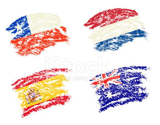 Pastel Boya çizin şili Ispanya Avustralya Hollanda ülke