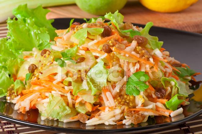 Waldorf Salatası Elma Ve Kereviz Ile Yapılan Stok Fotoğrafları