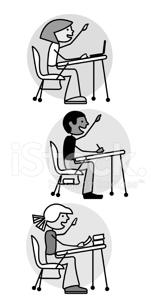 Pleasant Kids Sitting At Desks Stock Vector Freeimages Com Gmtry Best Dining Table And Chair Ideas Images Gmtryco