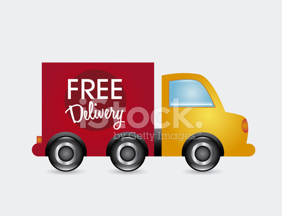 Lieferung Frei Haus Stock Vector Free