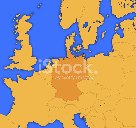 European map germany highlighted stock photos freeimages european map germany highlighted gumiabroncs Image collections