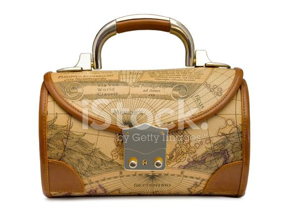 Handbag with retro world map stock photos freeimages handbag with retro world map gumiabroncs Image collections