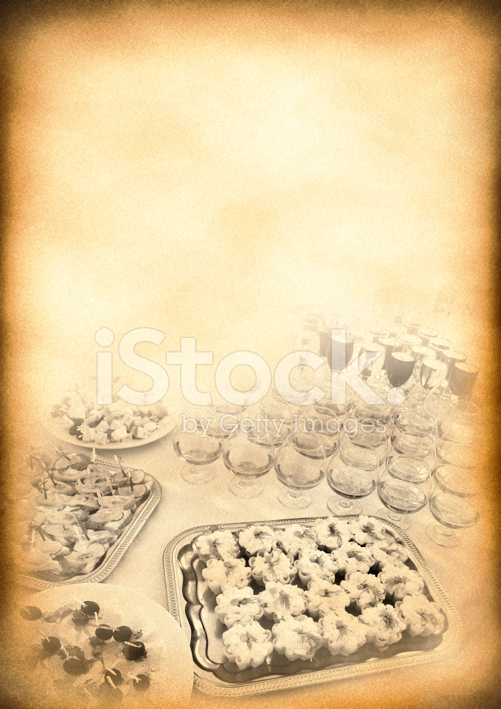 Vintage Background Of The Old Menu Stock Photos