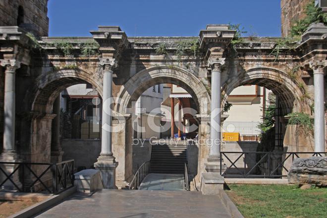 Hadrians Gate IN Antalya stock photos - FreeImages.com