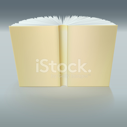 Standing Open Book With Pages Stock Vector Freeimages Com