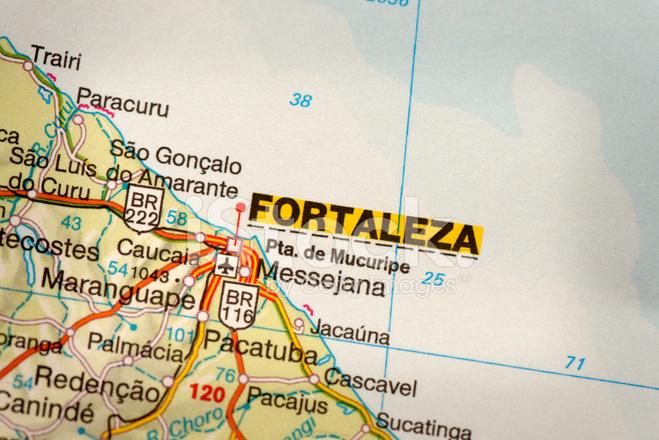 fortaleza brasilien karte Fortaleza, Brasilien Karte Stockfotos   FreeImages.com