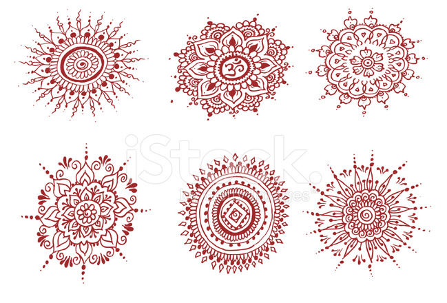 Mandalas do henna s 237 mbolos de mehndi indiano fotos do