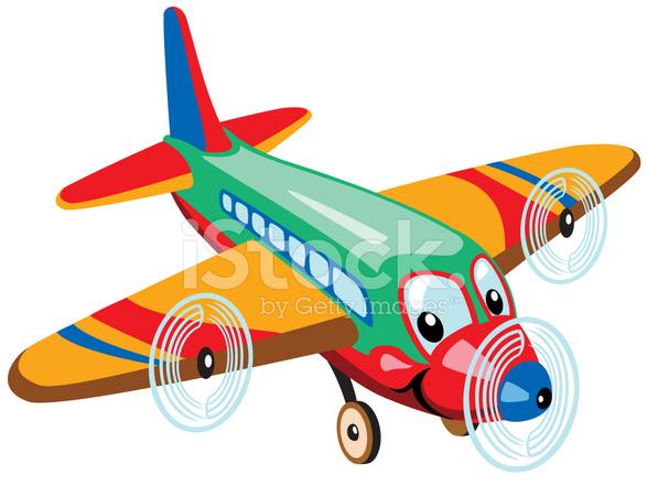 Aeroplano di cartone animato stock vector freeimages