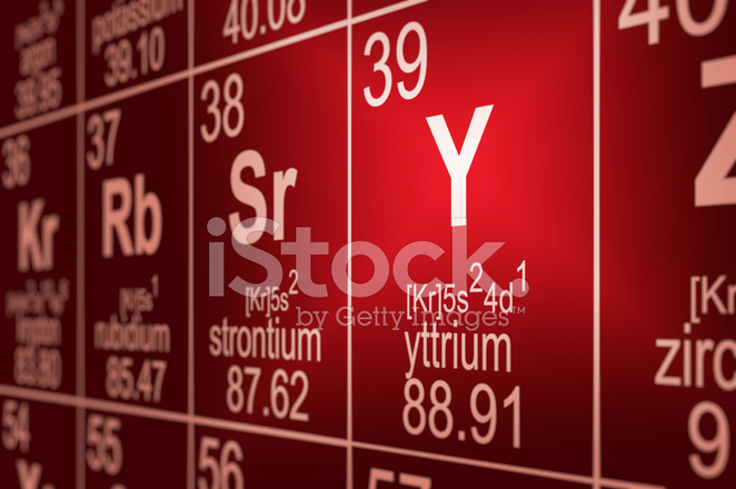 Periodic table yttrium stock photos freeimages periodic table yttrium urtaz Images