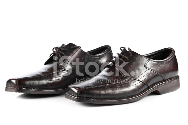 Man S Shoes Isolated On White Male Fashion With Sho Stock